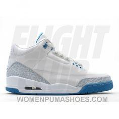 97966aae886 WS Air Jordan Retro 3 White Harbor Blue Boarder Blue 315296-142 Best NJQE3