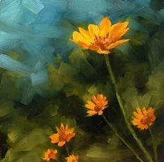 """A beautiful simple painting. """"Wild Flowers"""" by JaneStar9 on d.A."""