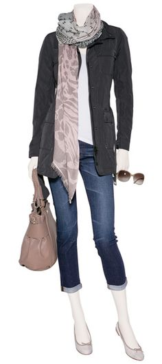 Spring outfit. (I think I'd like it a little better w/ full length jeans and some Toms but it's still super cute!)