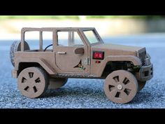 How To Make RC Car(Jeep Wrangler) – Amazing Cardboard Car DIY ——————————————————— change one's name dailypop ⇒ MonsterKook … source Cardboard Car, Cardboard Sculpture, Cardboard Crafts, Electric Car Kit, Diy Car Cleaning, Rc Cars Diy, Rubber Band Car, Container Truck, Wooden Toy Cars