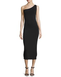 Yuleena+Lustrate+One-Shoulder+Midi+Dress+by+Theory+at+Bergdorf+Goodman.