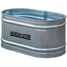 $75 Agrimaster Shallow Round End Tank Galvanized from Blain's Farm and Fleet Height: 1' Width: 2' Length: 4'
