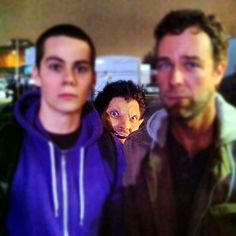 Too perfect! Dylan O'Brien, JR Bourne and a creepin Tyler Hoechlin lol! Teen Wolf.