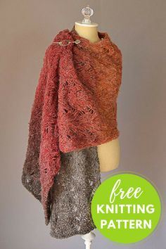 Warmth Stole Free Knitting Pattern using one skein Universal Revolutions yarn