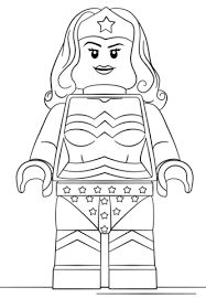 Image result for lego wonder woman coloring