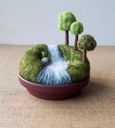 Playscape for Grown-ups Miniature Woodland Landscape, Mini Trees, Outdoors Nature Gift River Stream Waterfall, Pincushion Pin Cushion - All For Garden Flag Pole Landscaping, Small Yard Landscaping, Natural Landscaping, Landscaping Supplies, Landscaping Ideas, Landscaping Edging, Florida Landscaping, Modern Landscaping, Horse Breeds