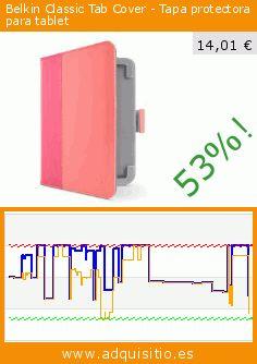 Belkin Classic Tab Cover - Tapa protectora para tablet (Accesorio). Baja 53%! Precio actual 14,01 €, el precio anterior fue de 29,84 €. https://www.adquisitio.es/belkin-components/belkin-f8n886vfc02-funda