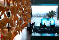 Changing the skyline of Barcelona forever, the new hotel W, standing proud and tall, opened its doors in 2010. To celebrate this event we flooded its interior with schools of Veuve Clicquot's exotic fish. #wandabarcelonaWhotels #paperart #paperdesign #creativespaces