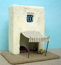 1:144 scale kasbah market stall by Anna-Carin