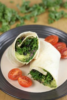 Baked Black Bean and Avocado Burritos | Recipe | Burritos, Black Beans ...