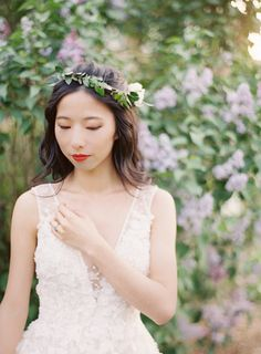 All of this cold weather has us dreaming of flowers and there's nothing more beautiful and refreshing than a bride wearing a flower crown. But if you think these accessories are just reserved for bohemian brides, you'll Wedding Blog, Destination Wedding, Engagement Session, Engagements, Bohemian Bride, Anniversary Photos, Headpiece Wedding, Bride Look, Bridal Beauty