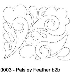 quilt stencil patterns free paisley - Google Search