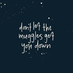 Don't let the muggles get you down..   #harrypotter #moviethings #movies #books #dontletthemugglesgetyoudown