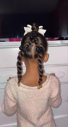 Black Baby Girl Hairstyles, Mixed Kids Hairstyles, Cute Toddler Hairstyles, Childrens Hairstyles, Girls Natural Hairstyles, Natural Hairstyles For Kids, Kids Braided Hairstyles, Anna Hair, Kid Styles