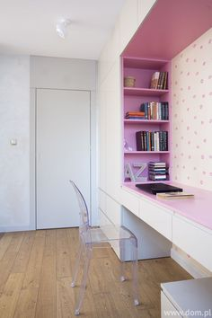 Create a nook for your bookshelf next to your desk to keep the mess away for the eyes and the books easier to access from the sitting area.