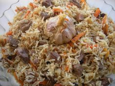 Uzbek pilaf - food and drink Rice Recipes, Baby Food Recipes, Meat Recipes, Cooking Recipes, Polish Recipes, Turkish Mezze, Food N, Food And Drink, Turkish Recipes