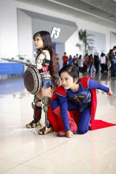 Mini Superman and Wonder woman