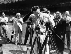"""The Iron Horse started 2,130 straight games, but his most famous moment on a baseball field was likely this speech. Gehrig called himself """"the luckiest man on the face of this earth"""" in his 277-word speech to the crowd at Yankee Stadium, only weeks after being diagnosed with the incurable neurological disease amyotrophic lateral sclerosis (or ALS), which now bears his name."""
