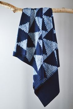 Indigo Shibori Throw: Arrow | Decorator's Notebook