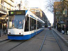 Public transport in Amsterdam: the Tram.