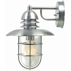 Illumine 1-Light Outdoor Stainless Steel Wall Lamp-CLI-LS415077 - The Home Depot