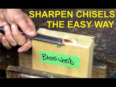 Sharpening a v-chisel (or Parting tool) - YouTube