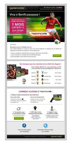 E-MAILING ABONNÉS NUMERICABLE  Offre de lancement «Benfica TV»