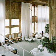 Ricardo Bofill's adaptive reuse home and studio...originally a cement factory