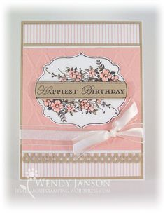 Apothecary Art stamp set-  I love the pink!