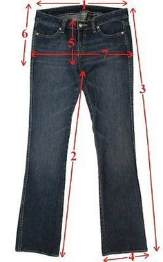Measuring Guidelines: Tag size and measured size may be different, so please take only measured size into consideration before you bid or purchase a pair of Jeans/Pants. Even if you normally wear a certain...