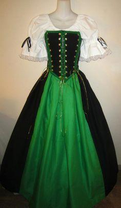 4-Tie Bodice Set - renaissance clothing, medieval, costume