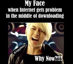 Ma tête quand j'ai un problème avec internet en plein téléchargement