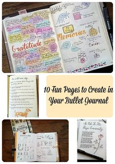 Writers Block Anyone? Come and check out 10 fun pages to create in your bullet journal #bujo #bulletjournal #planner