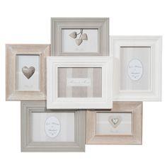 Cadre photo 6 vues en bois 53 x 60 cm CANTINE