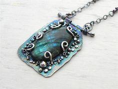 Gorgeous labradorite pendant created by Wild Prairie Silver:  http://wildprairiesilver.wordpress.com/