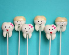 Tooth Cake Pops! Maybe the local bakery in Auburn could make these for us! They'd be a great giveaway or treat for the black bags! : )