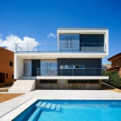 CHV House By Aguilera Guerrero, Catalunya, SpainDesignRulz20 March 2013Aguilera Guerrero created this contemporary residence for a client located in Tarragona, Catalunya, Spain. Perforations on the ... Architecture