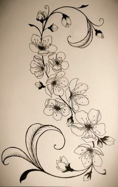 Tattoovorlage Blumenranken stilvoller Look - Tattoo, Tattoo ideas, Tattoo shops, Tattoo actor, Tattoo art Tattoo template flower tendrils stylish look Kunst Tattoos, Tattoo Drawings, Body Art Tattoos, Art Drawings, Flower Vine Tattoos, Cage Tattoos, Mini Tattoos, Tatoos, Tattoo Templates