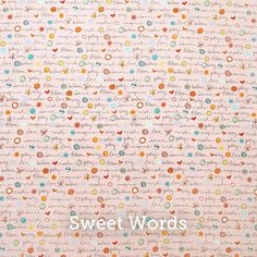 """Sweet Words Print 20x20"""" Pillow Case - by SelemeHealth"""