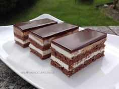 Kolaci I Torte, Cheesecake Brownies, Dessert Recipes, Desserts, Food Dishes, Baked Goods, Tiramisu, Food And Drink, Candy
