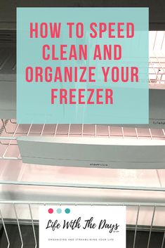 How to quickly and easily clean and organize your freezer. - Real Time - Diet, Exercise, Fitness, Finance You for Healthy articles ideas Speed Cleaning, Cleaning Hacks, Laundry Solutions, A Day In Life, Freezer, How To Remove, Parenting, Ads, Organize