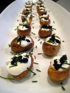 Stacey Snacks: Potatoes w/ Caviar & Creme Fraiche