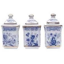 Image result for Miniature dollhouse blue onion china