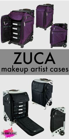 ZUCA makeup artist cases - choose your favorite color and style at TheCosmeticSpace.com