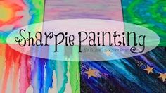 DIY Sharpie Watercolor Painting ((with alcohol)) - Galaxy, Tie Dye, & More. - YouTube