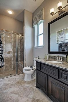 Twin Mirrors And Matching Fixtures Create Pleasing Symmetry In This Bath The Newcastle Vista