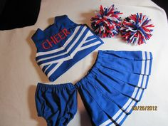 Custom design cheerleading outfits for AG dolls