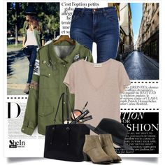 street style by yexyka on Polyvore featuring moda, vintage, Sheinside and shein