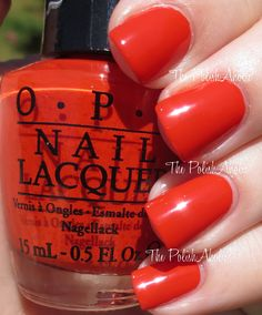 OPI - Mustang Collection Swatches - Race Red