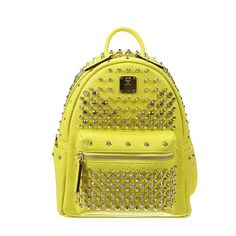 MCM Backpacks ($1,780) ❤ liked on Polyvore featuring bags, backpacks, yellow, knapsack bags, backpack bag, yellow backpack, rucksack bag and mcm backpack